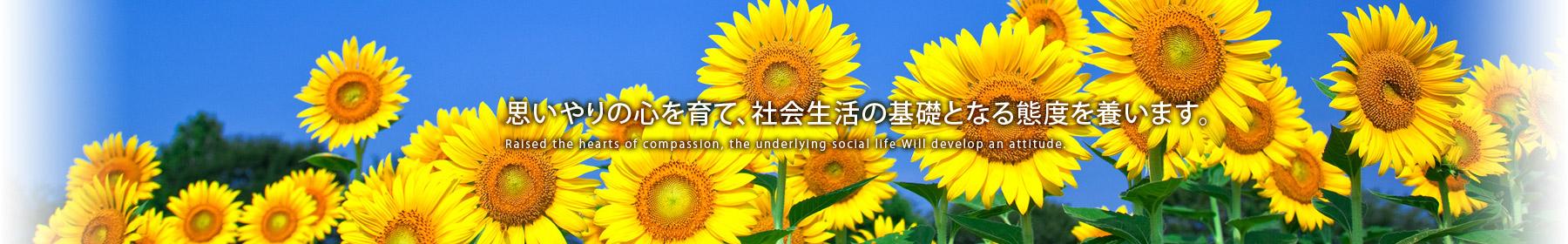 思いやりの心を育て、社会の基礎となる態度を養います
